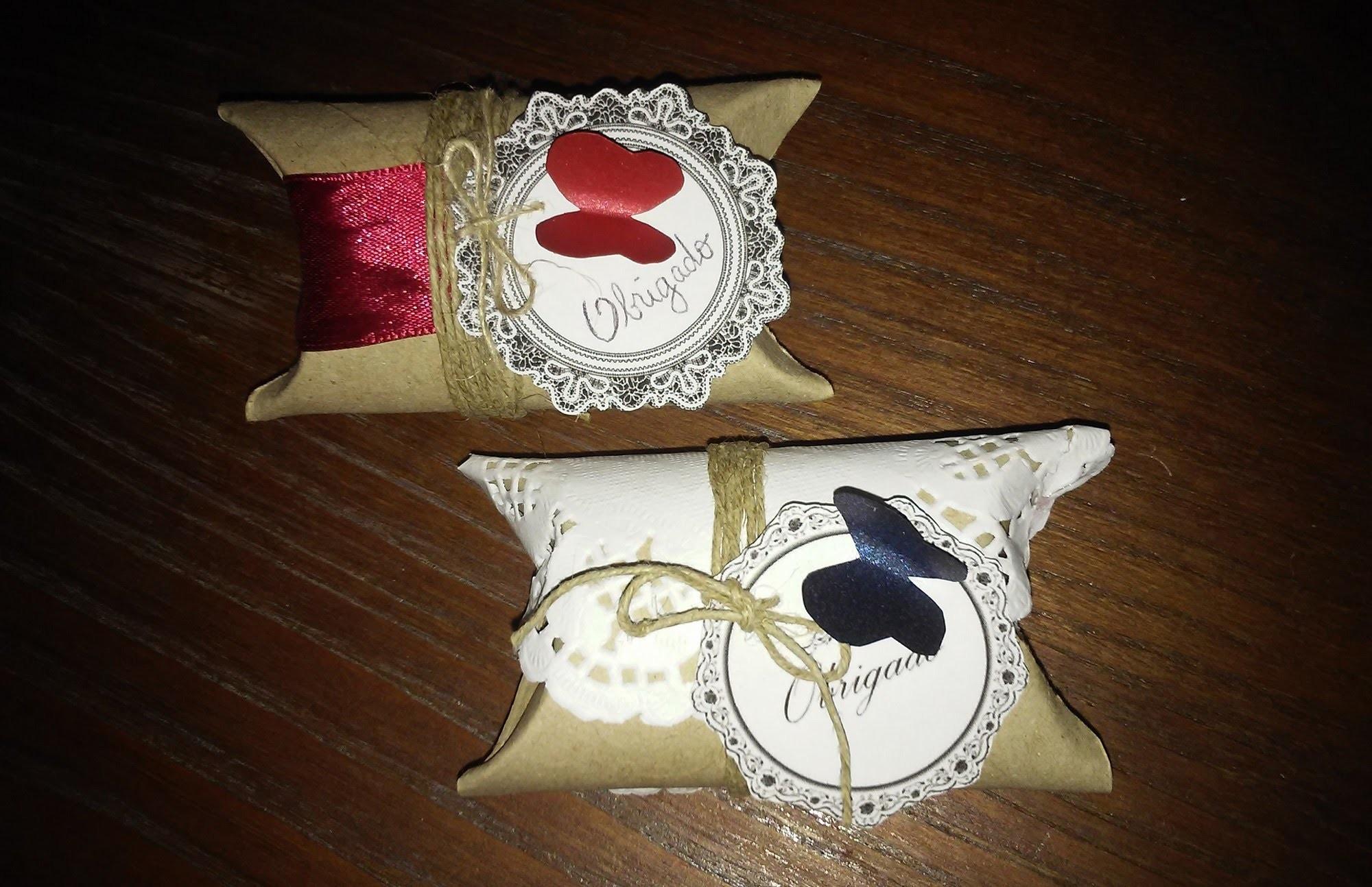 Caixa de lembrancinhas de rolo de papel - DIY - Souvenirs boxes