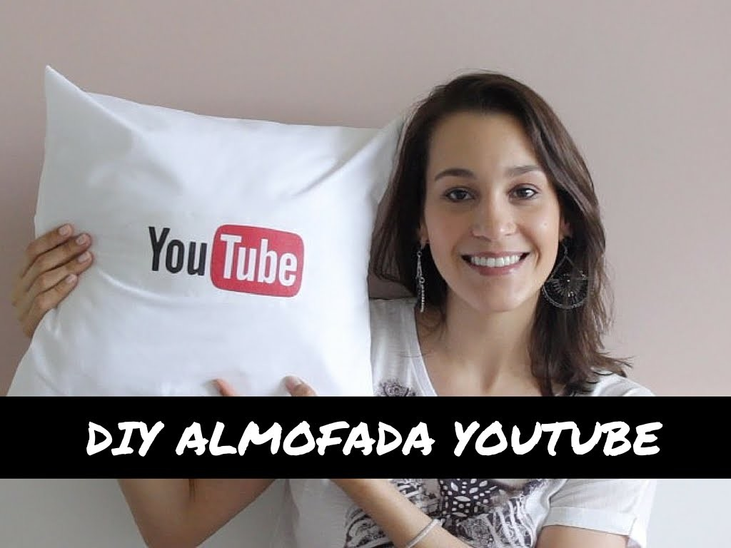 DIY ALMOFADA DO YOUTUBE