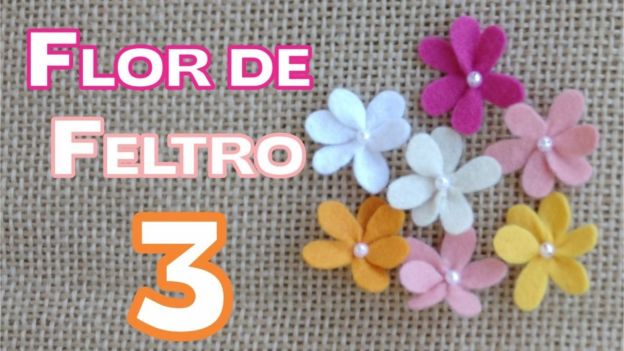 Como fazer Flor de Feltro 3  - PAP (passo a  passo) - DIY - Feltro #6