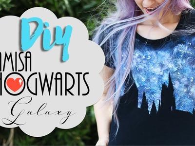 DIY: Camisa de Hogwarts Galaxy - Especial aniversário Harry Potter #potterweek