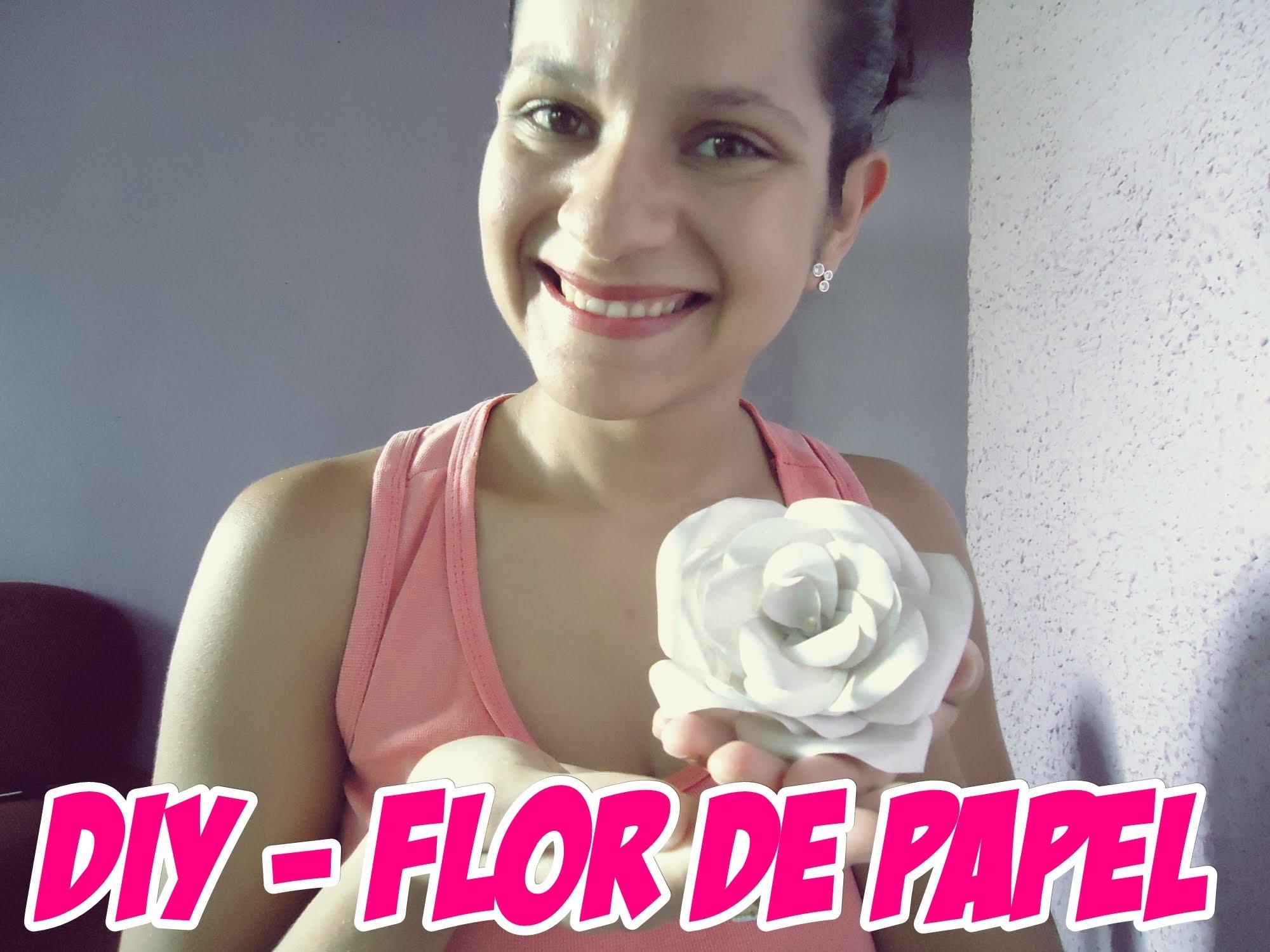 DIY -   Faça você mesmo -  Flor de Papel ( PASSO A PASSO -  SIMPLES)