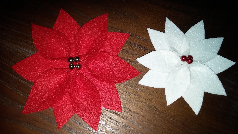 Flor de Natal em feltro - DIY - Christmas Poinsettia in felt