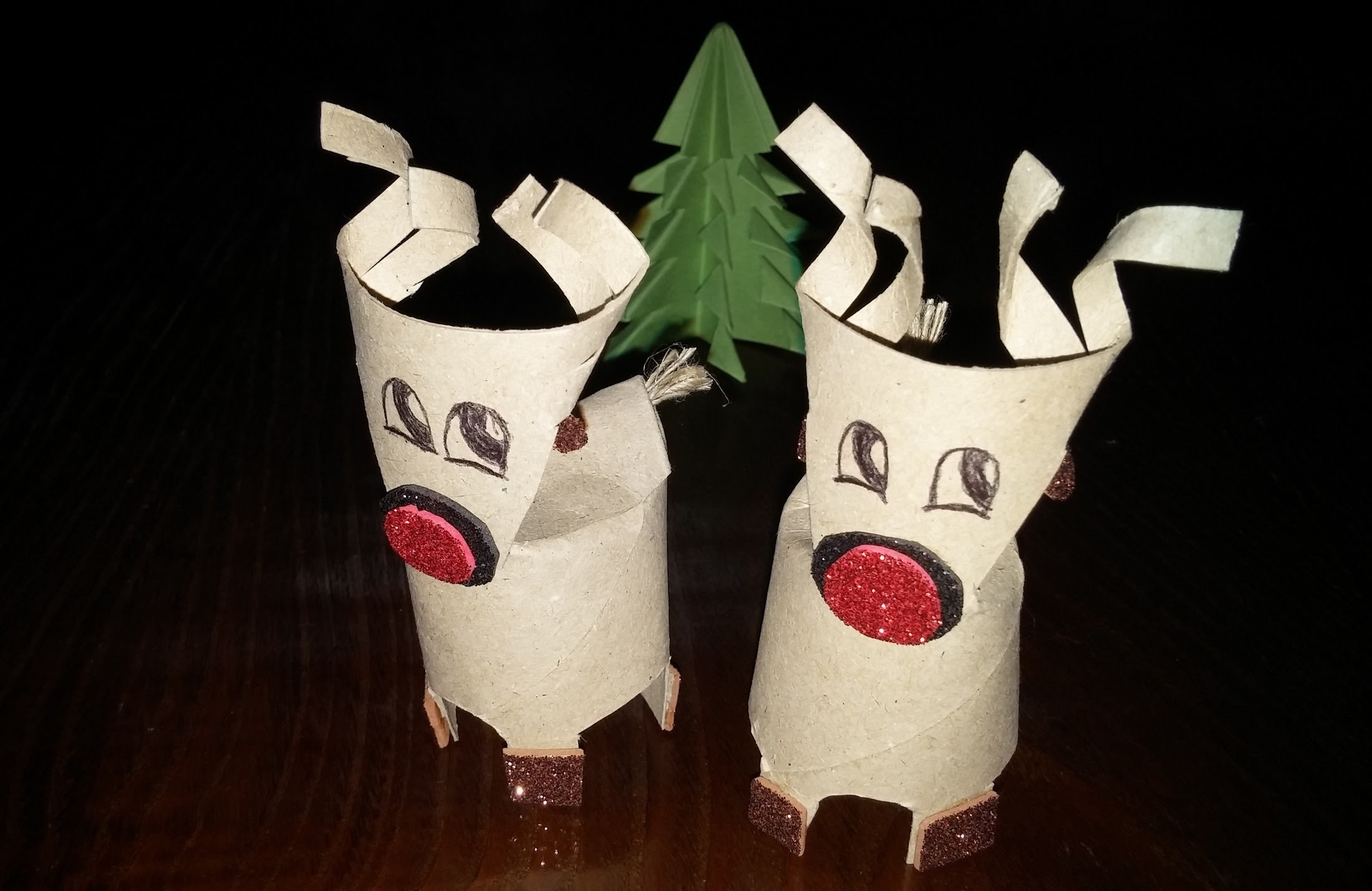Como fazer rena de Natal - DIY - How to make a Christmas reindeer