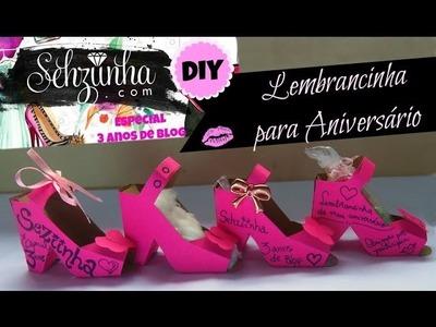 DIY: Lembrancinha de Aniversário - Sapatinho Rosa | Especial #Sehziinha3AnosdeBlog