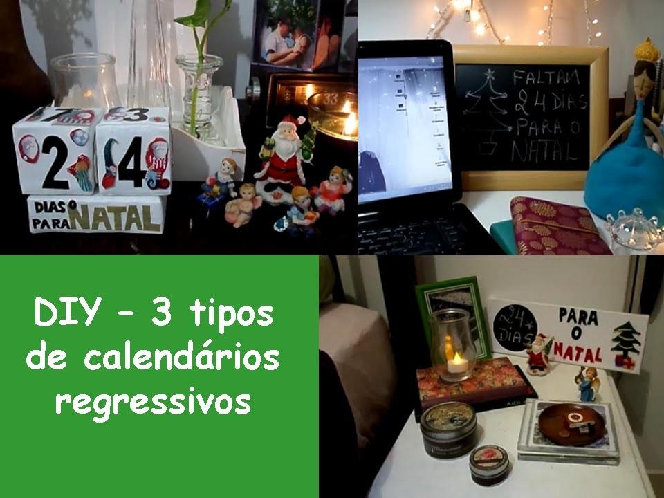 DIY - 3 Tipos de calendario regressivo de Natal - DIY holiday room decorations