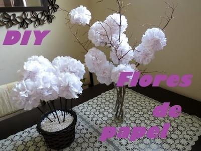 DIY Flores de papel higiênico