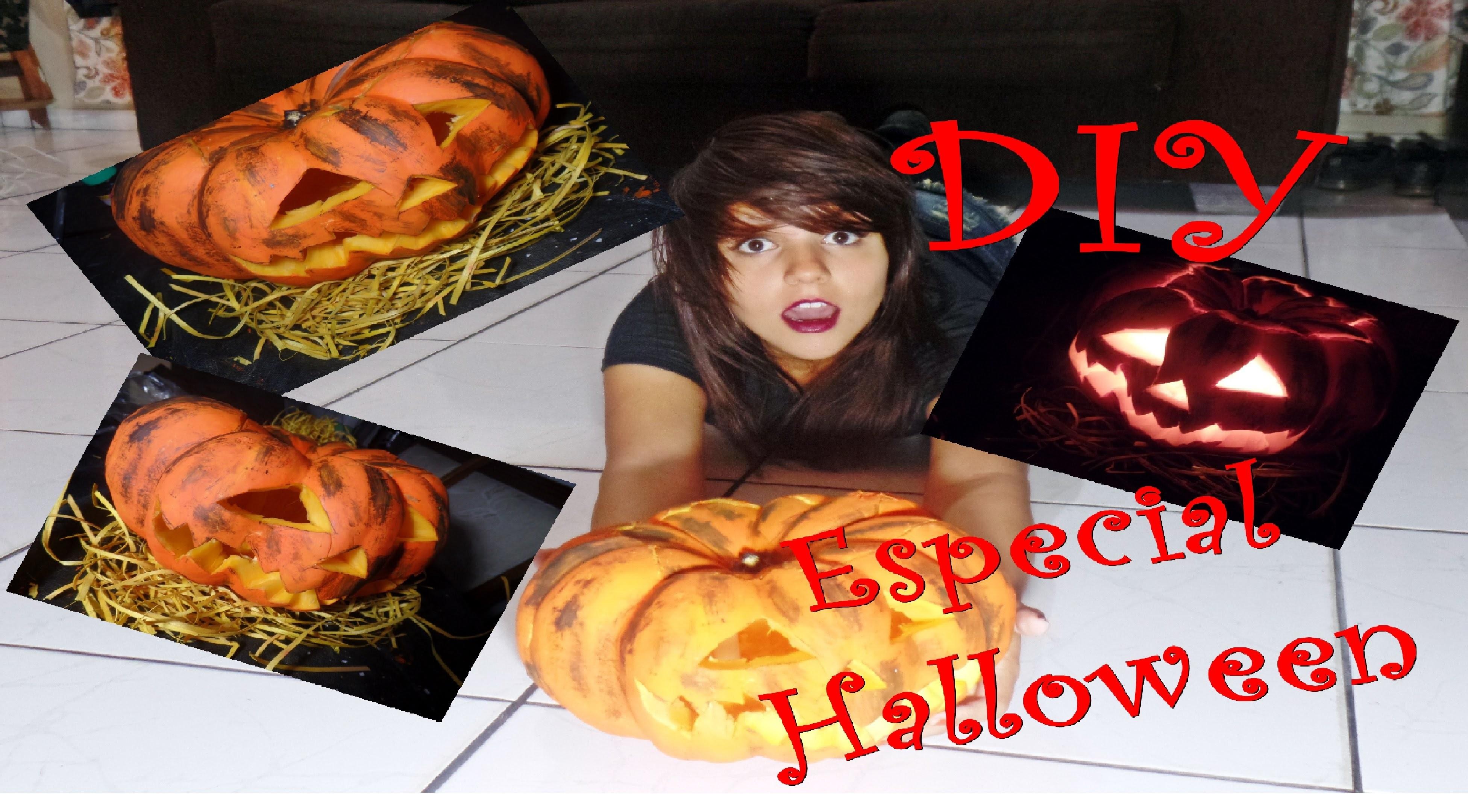 DIY - Faça você mesmo - Abóbora de Halloween
