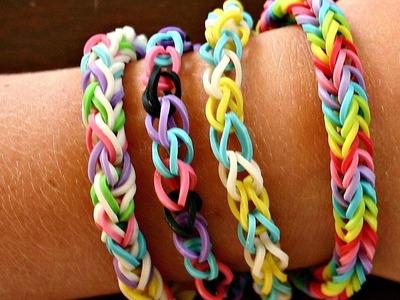 Como fazer Pulseiras de elástico Rainbow Loom