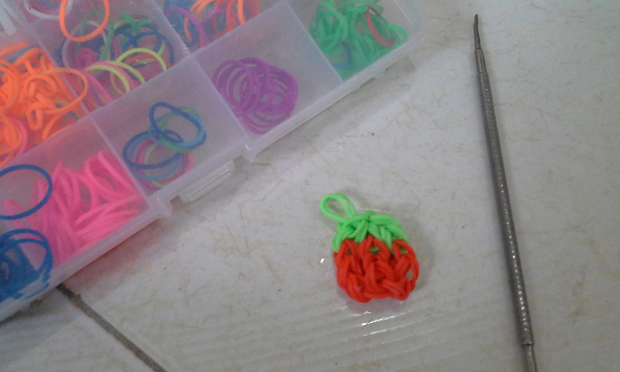 Rainbow Loom - Morango VEDA 6 DE NOVEMBRO