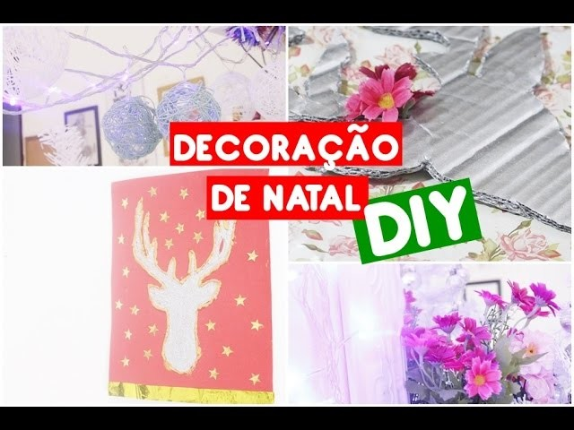 DIY: Decoração para o natal  | Holiday room decor Easy DIY Christmas