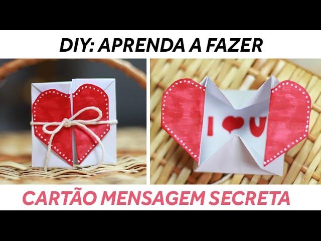 DIY: Cartão Mensagem Secreta Dia dos Namorados