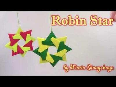 Christmas Origami Robin Star  by Maria Sinayskaya -  Yakomoga Origami tutorial