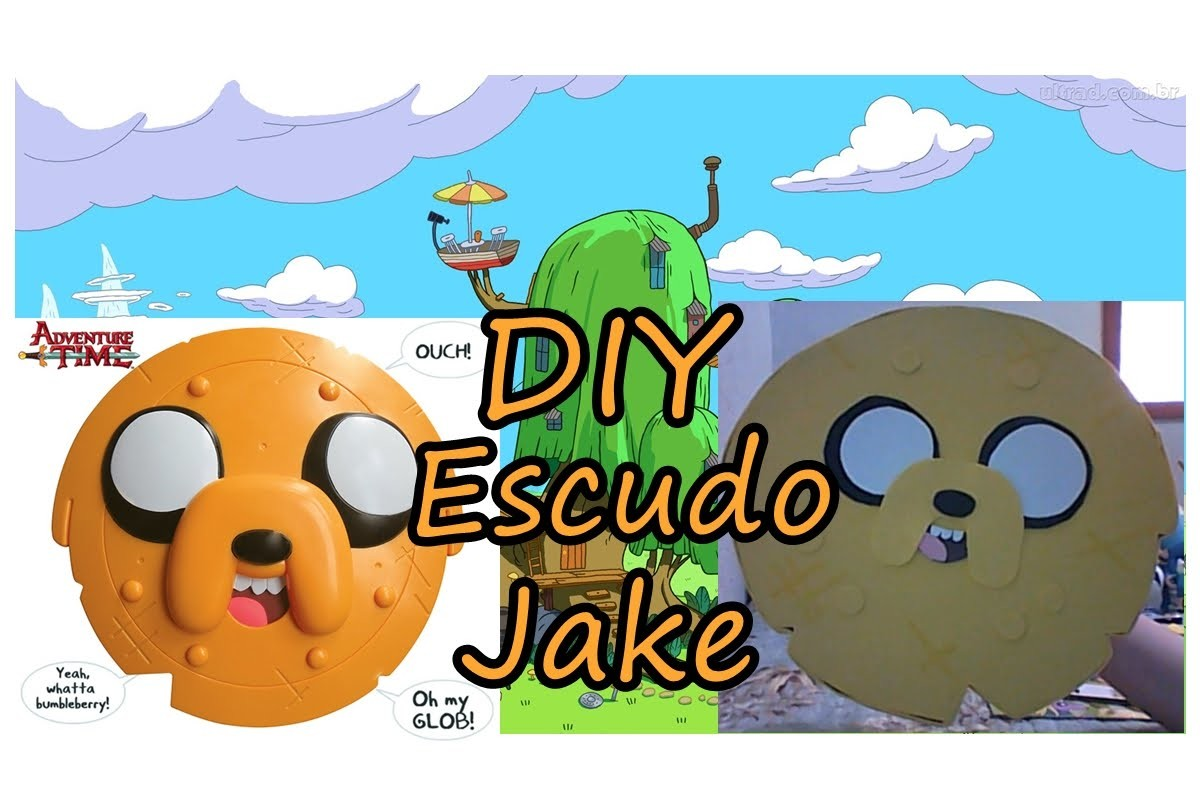 DIY ESCUDO DO JAKE - HORA DE AVENTURA.