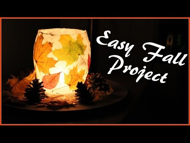 DIY - Fall candle holder
