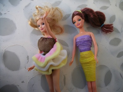 DIY: Vestido para Barbie, Rainbow Loom Barbie Dress