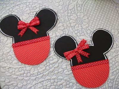 DIY: Faça voce mesma convite Minnie vermelha  ♥