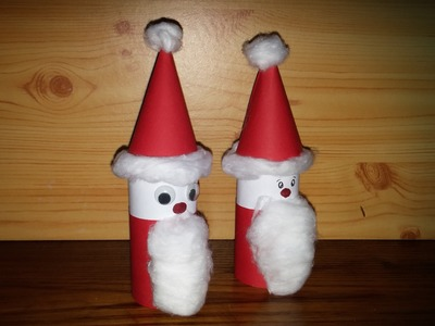 Pai Natal com material reciclado - DIY - How to make santa claus