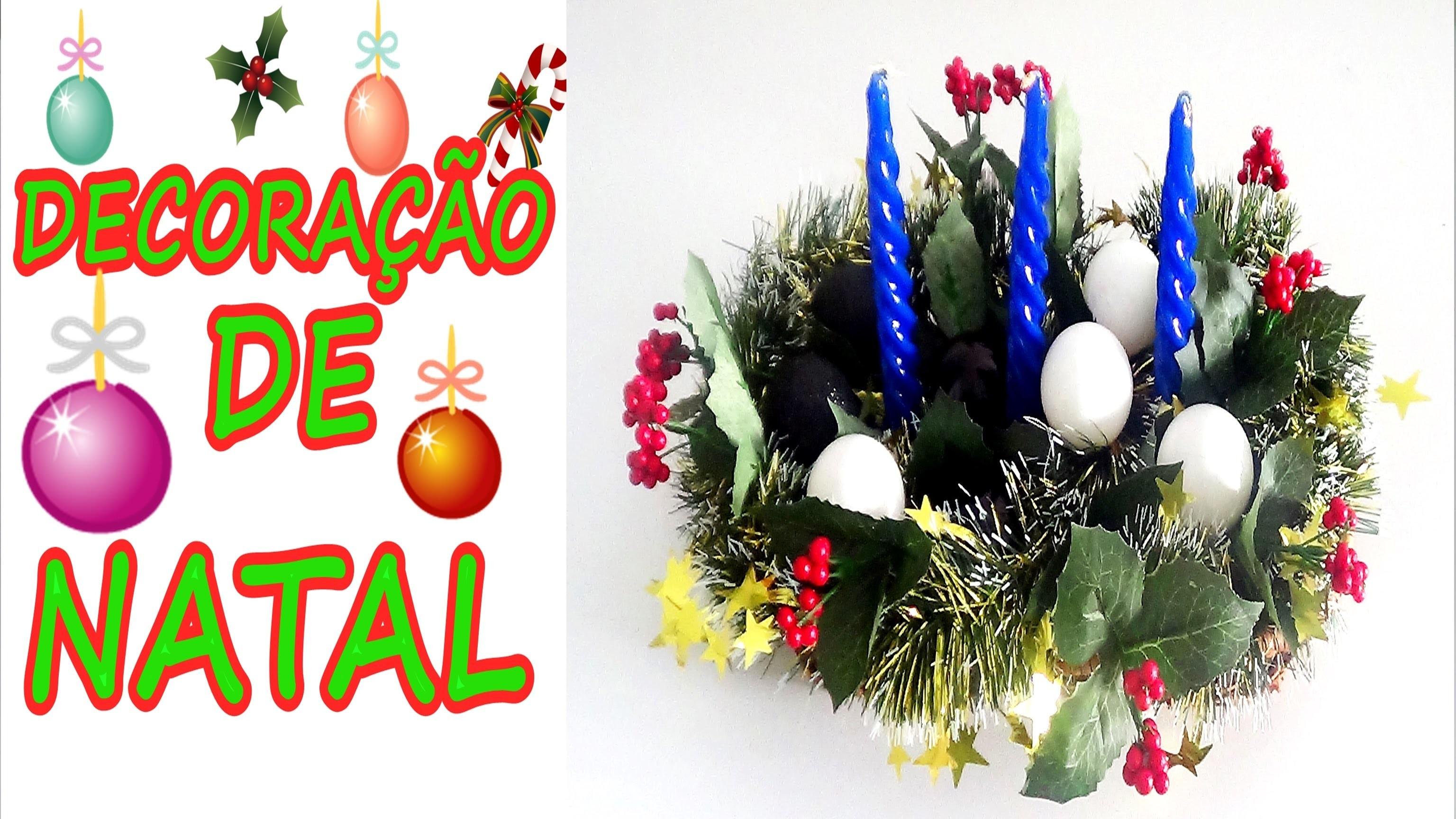 DIY Faça um lindo centro de mesa decoração de  NATAL muito facil de realizar