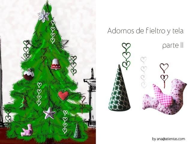 DIY Figuras de fieltro y tela para Navidad 2ªparte