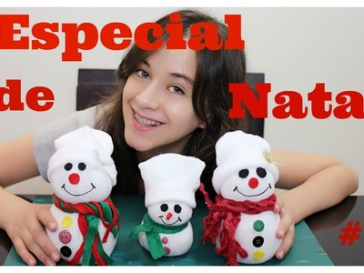 Especial de Natal # 1: DIY Boneco de Neve de Meia com Carol Santina  #vlogmas