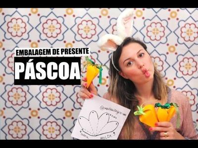 DIY | Páscoa - Como fazer uma embalagem de presente de Cenoura