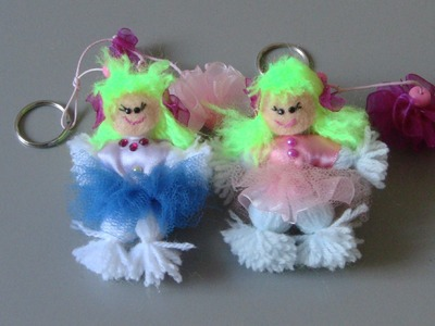 Boneca de lã (chaveiro)  woolen doll