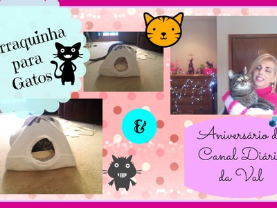♡ Faça Você Mesmo - DIY: Barraca para Gatos