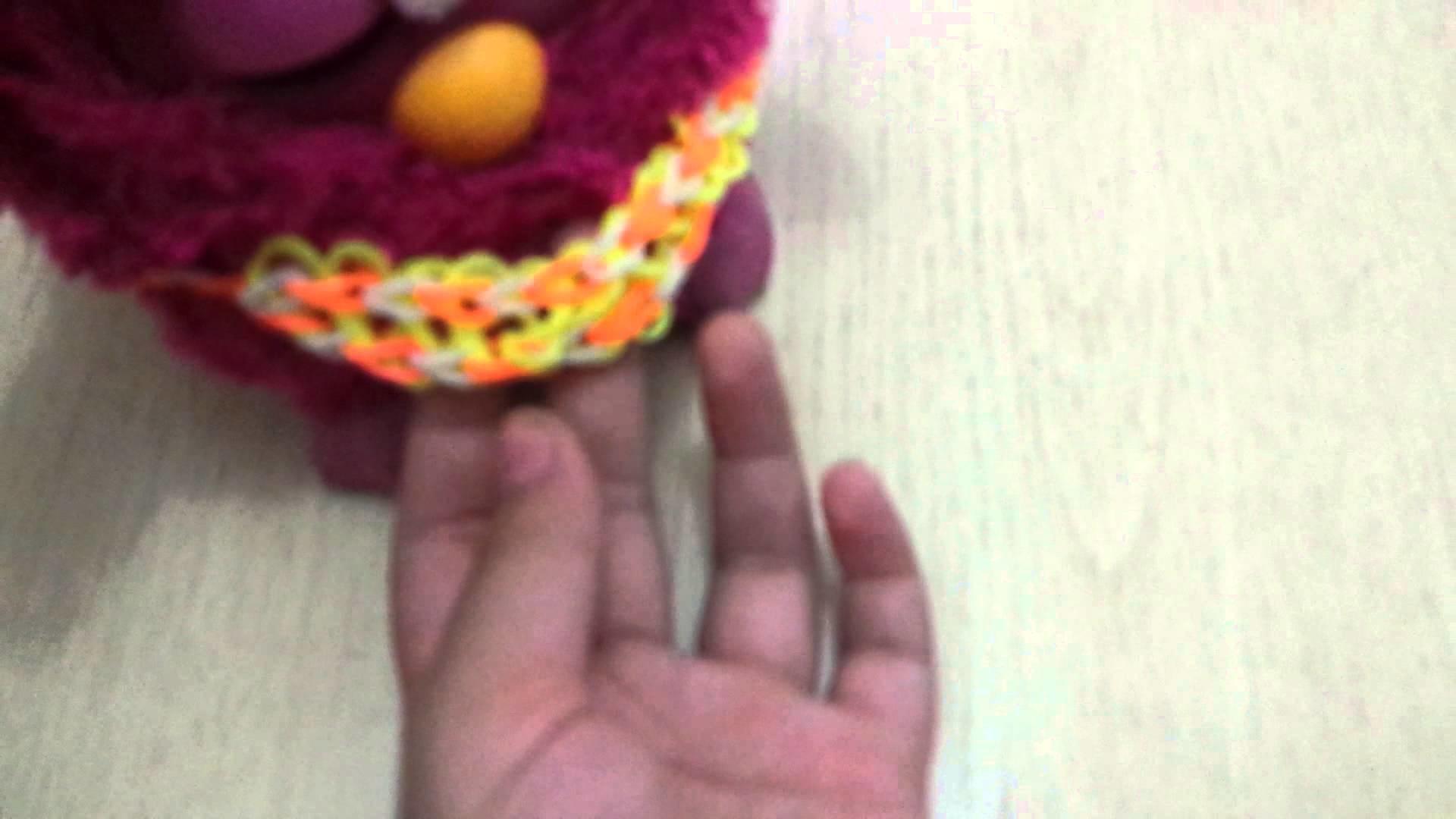 Roupa para Furby de rainbow  loom
