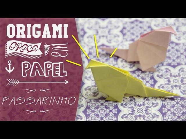 ORIGAMI - Passarinho de Papel |CINCO GRAÇAS|