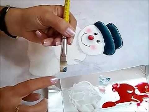 Pintura em Tecido - BONECO DE NEVE - How to paint Christmas