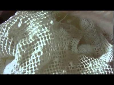 Amostra do vestido de crochê para criança Parte 3