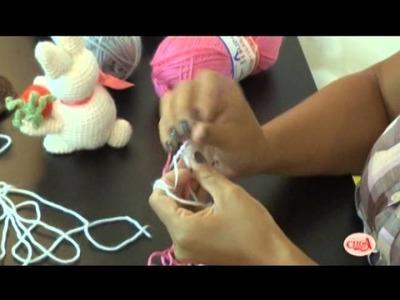 Aprenda a fazer um coelhinho da páscoa de amigurumi