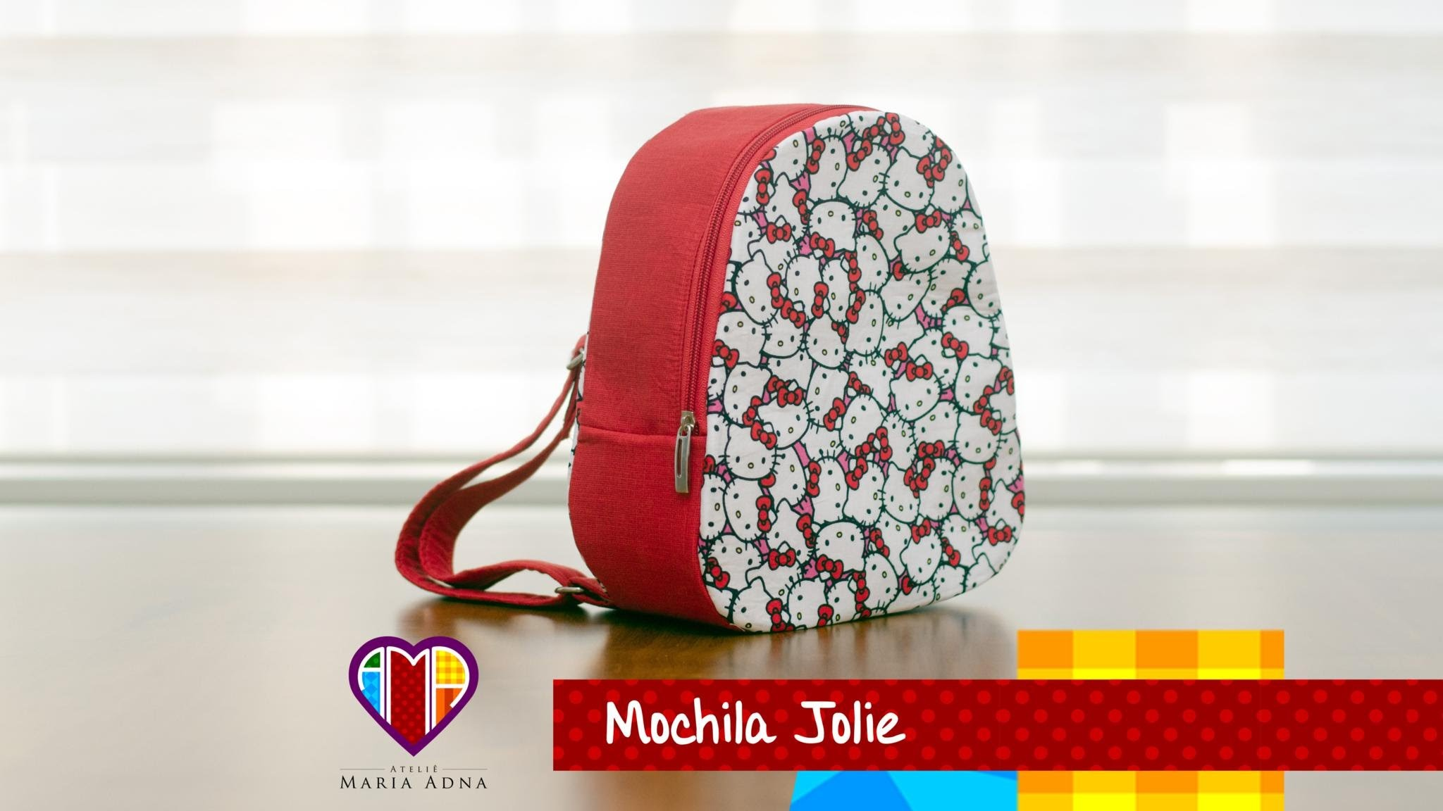 Bolsa mochila infantil em tecidos Jolie- Maria Adna Ateliê - Aulas de bolsas e mochilas em tecidos