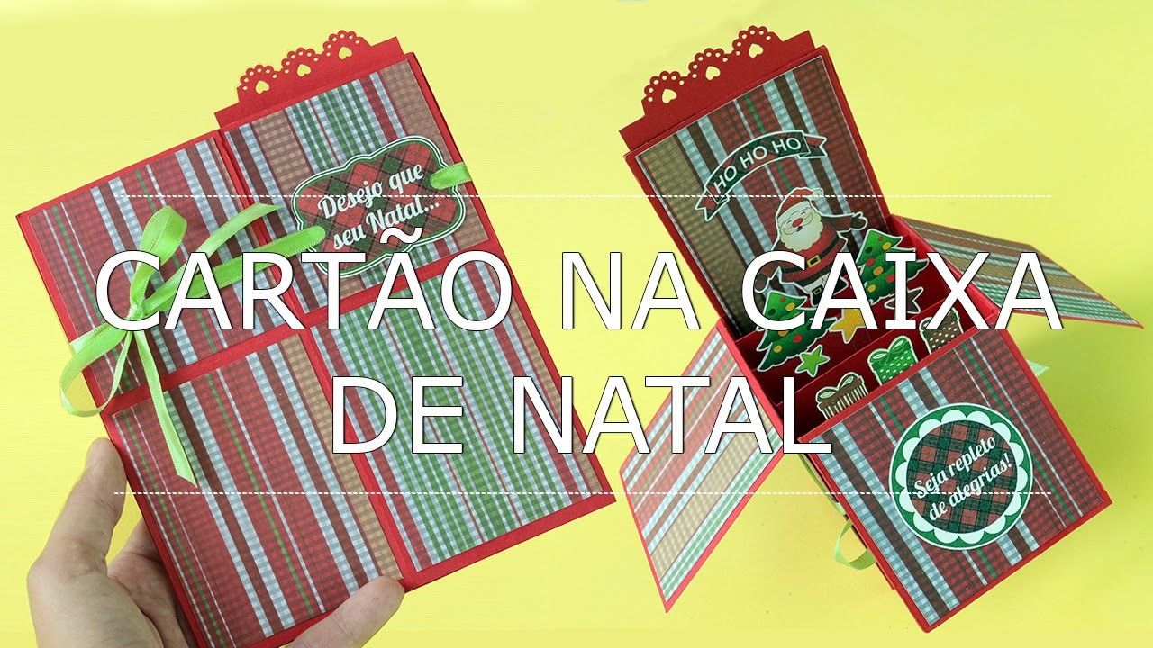 Card in a Box de Natal