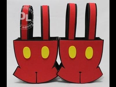 Como fazer sacolinha surpresa  do Mickey em EVA