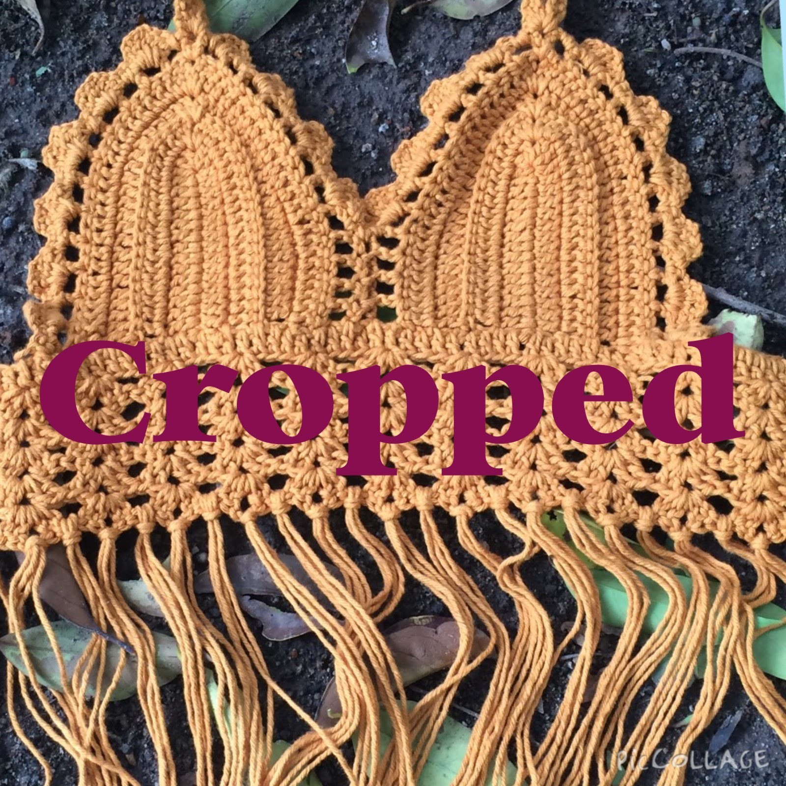 Cropped em crochê feito em barbante