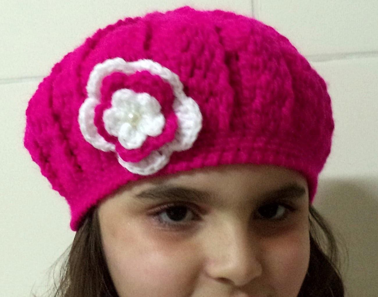 Diy - Boina em Crochê Ingrid - 18 cm altura.54 cm  circunferência - Graça Tristão