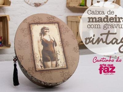 DIY - Caixa vintage (Edilma Dias)