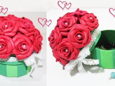Reciclagem - Como fazer Porta Joia Buquê com Flor em EVA -Dia das Mães