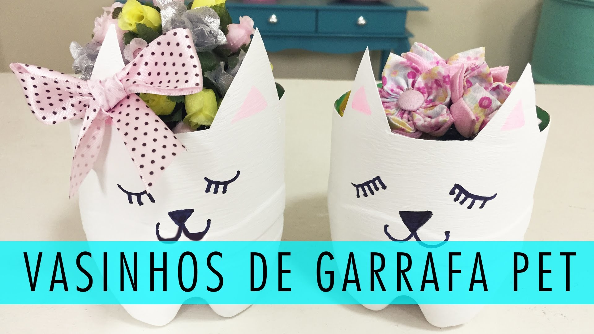 Reciclar Garrafa Pet: Vasinhos Fofos ♥ DIY
