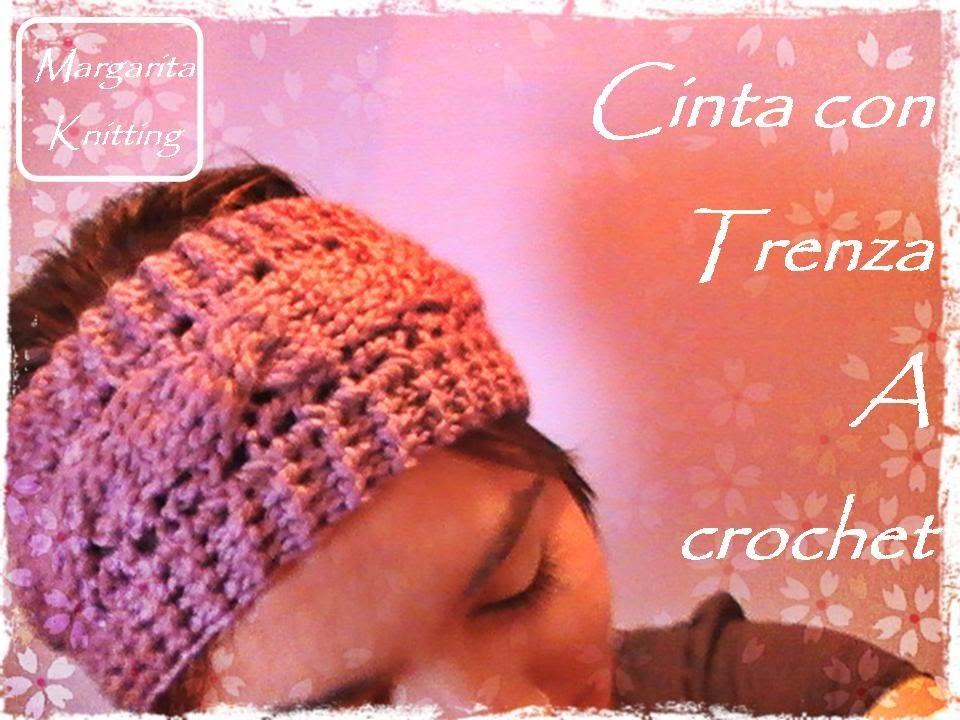 Cinta para el pelo con trenza a crochet (diestro)