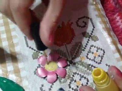 Como fazer flores reciclando latinha de cerveja e esmalte - Ivone Müller