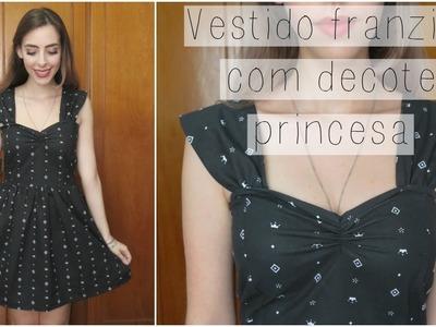 ✄ Vestido com decote princesa | Modelagem e costura |