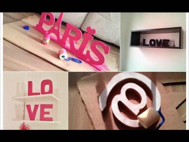 Como fazer letras decorativas gastando pouco - 3 maneiras