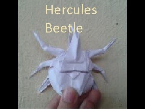 How to make an origami hercules beetle (Jo Nakashi