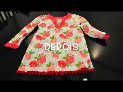 TUTORIAL: personalize roupas crianças com moda pompoms