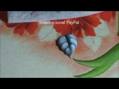 Como pintar folha azulada - pintura em tecido