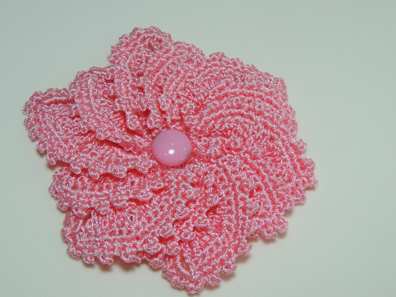 Flores de Crochê - Flor de Crochê Catavento Parte 1.2 (Canhotas)