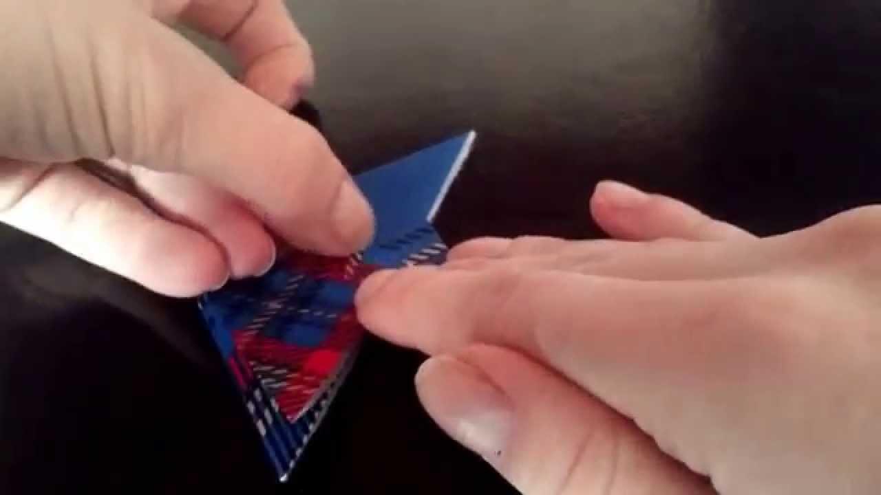 Marcador de páginas de tsuru! Origami fácil!