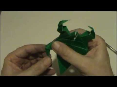 ORIGAMI - CARANGUEJO  - CRAB - MUNDO DO ORIGAMI - ORIGAMI´S WORLD.